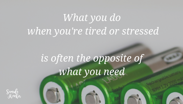 tired or stressed